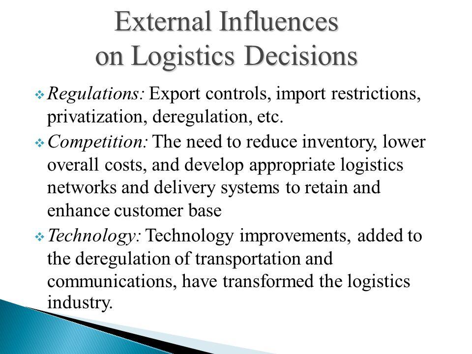 on Logistics Decisions