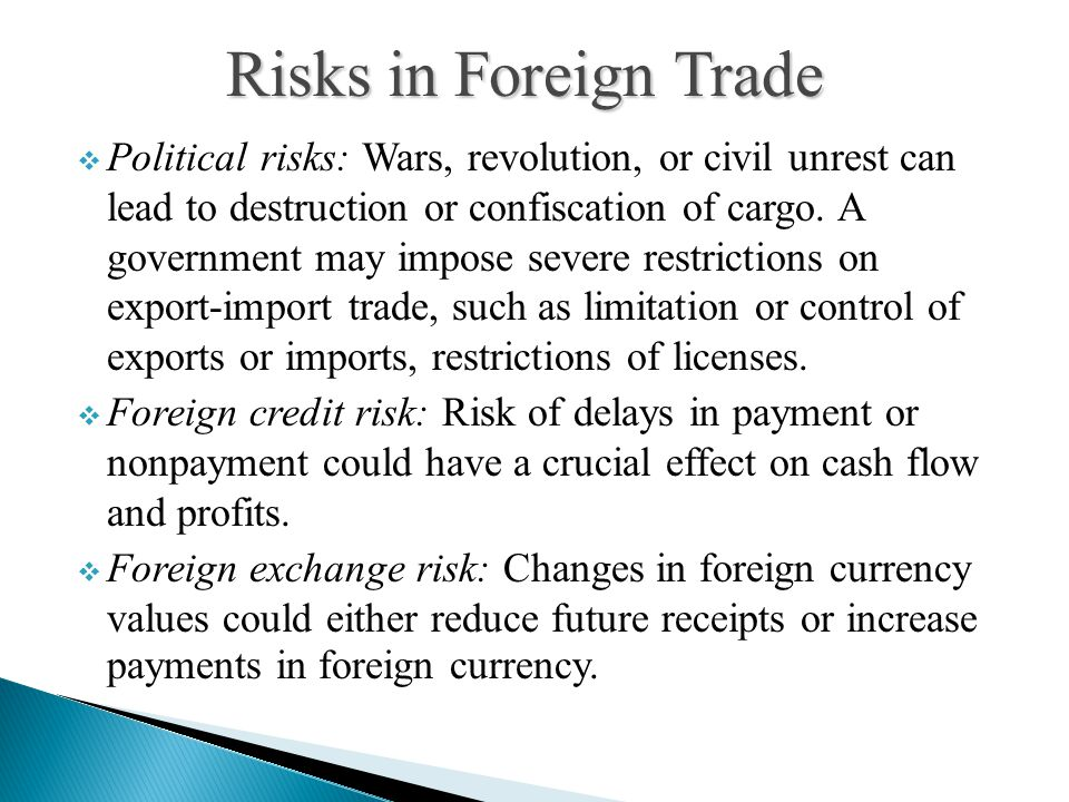 Risks in Foreign Trade
