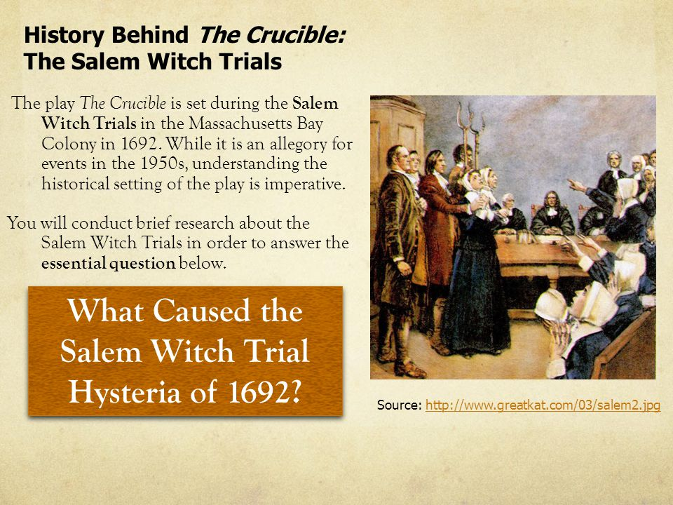 the crucible vs salem witch trials essay