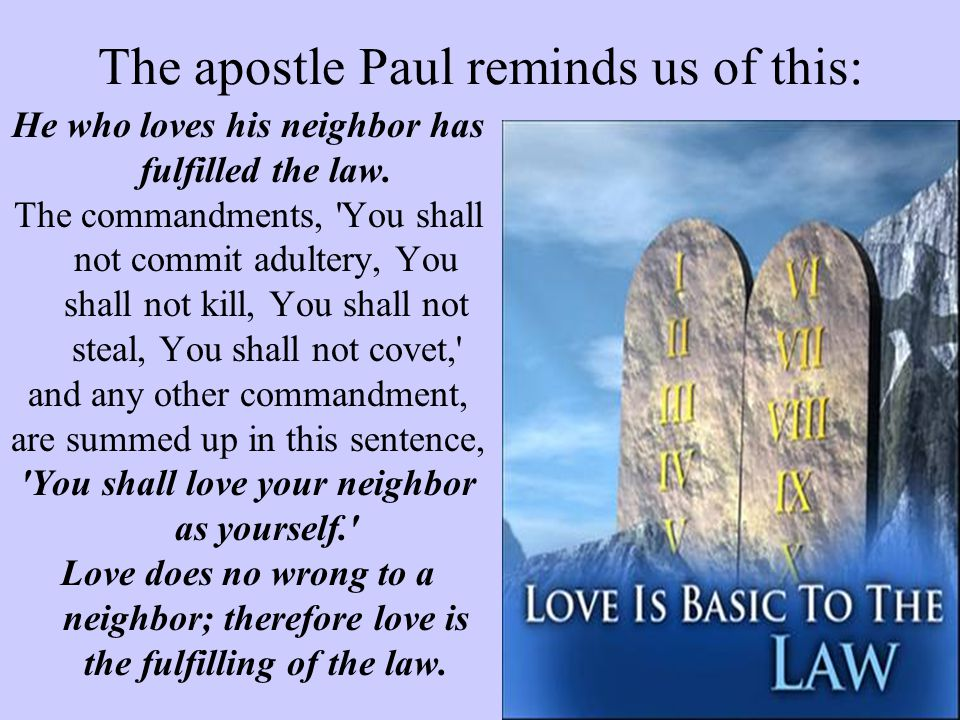 The apostle Paul reminds us of this: