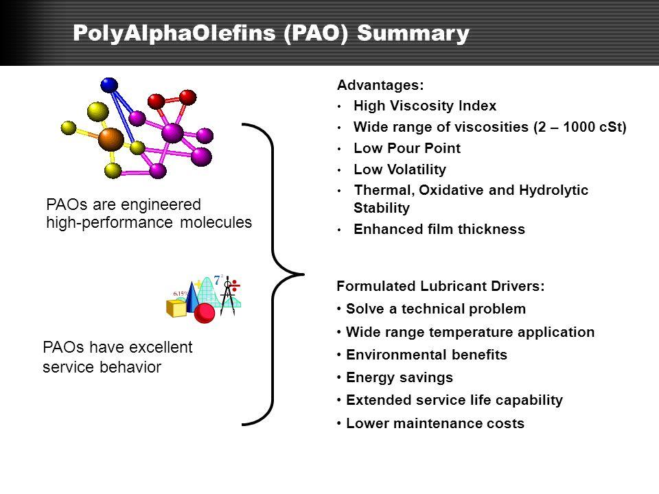 PolyAlphaOlefins (PAO) Summary