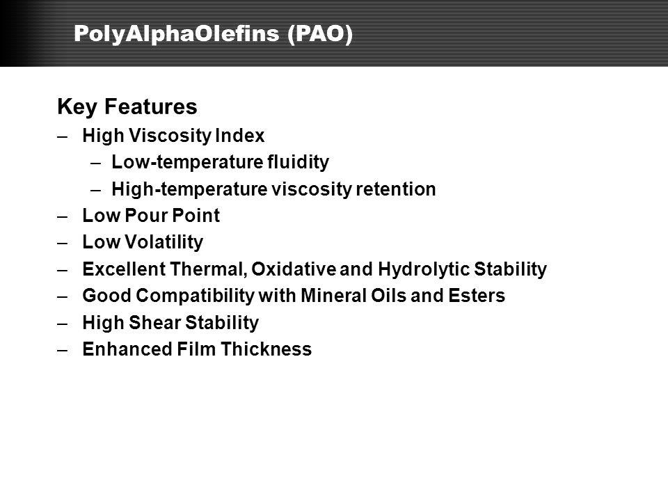 PolyAlphaOlefins (PAO)