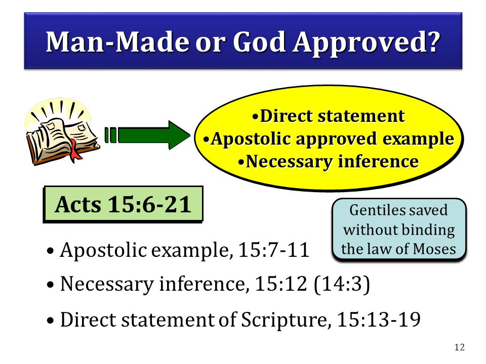 Man-Made or God Approved