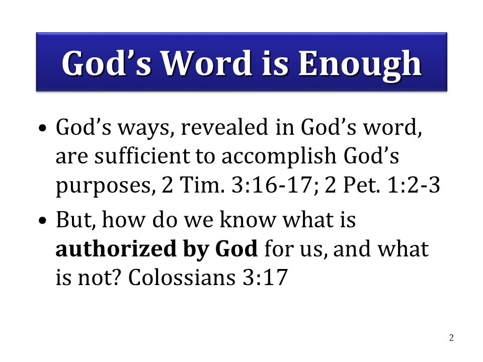 BASICS CLASS 2010 #6 - How to Establish Bible Authority. God's Word is Enough.