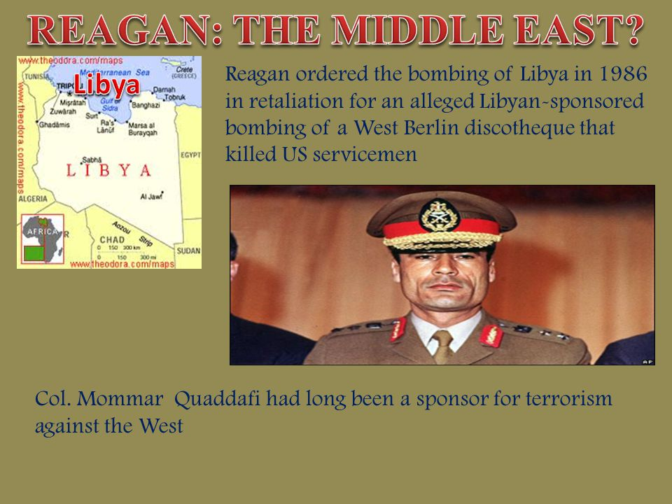 REAGAN: THE MIDDLE EAST