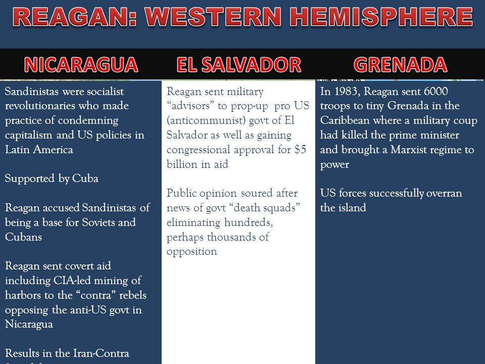 REAGAN: WESTERN HEMISPHERE