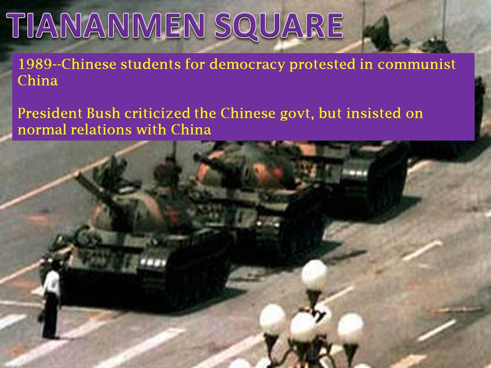 TIANANMEN SQUARE 1989--Chinese students for democracy protested in communist China.