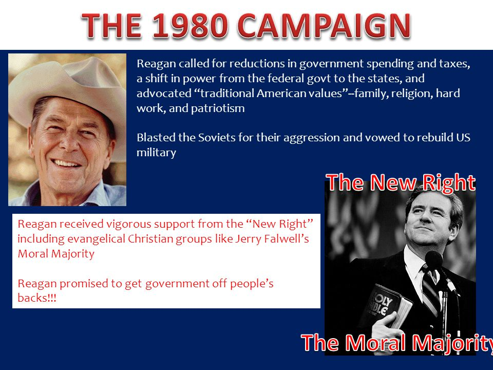 THE 1980 CAMPAIGN The New Right The Moral Majority