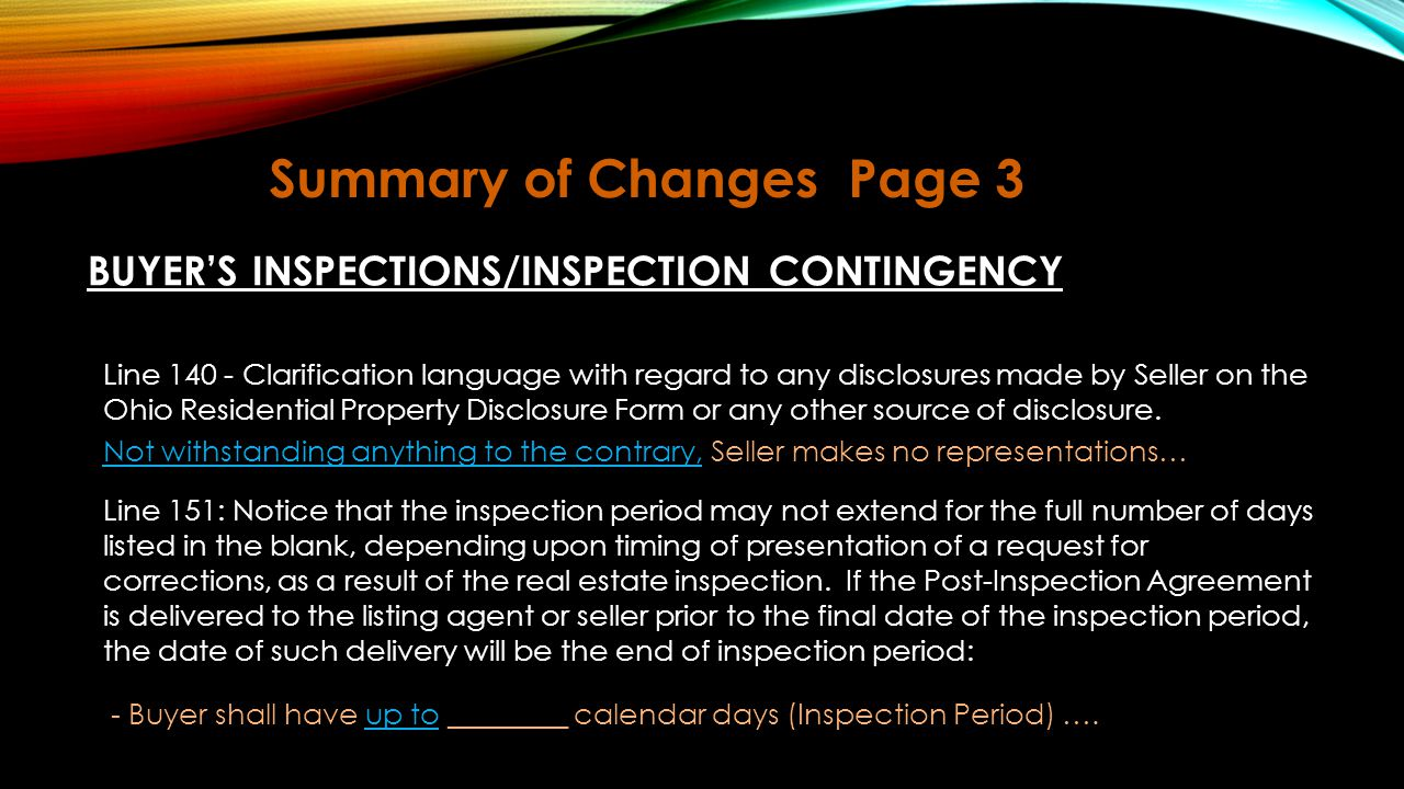 Summary of Changes Page 3