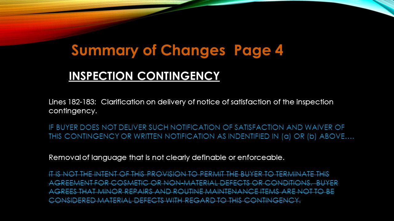 Summary of Changes Page 4