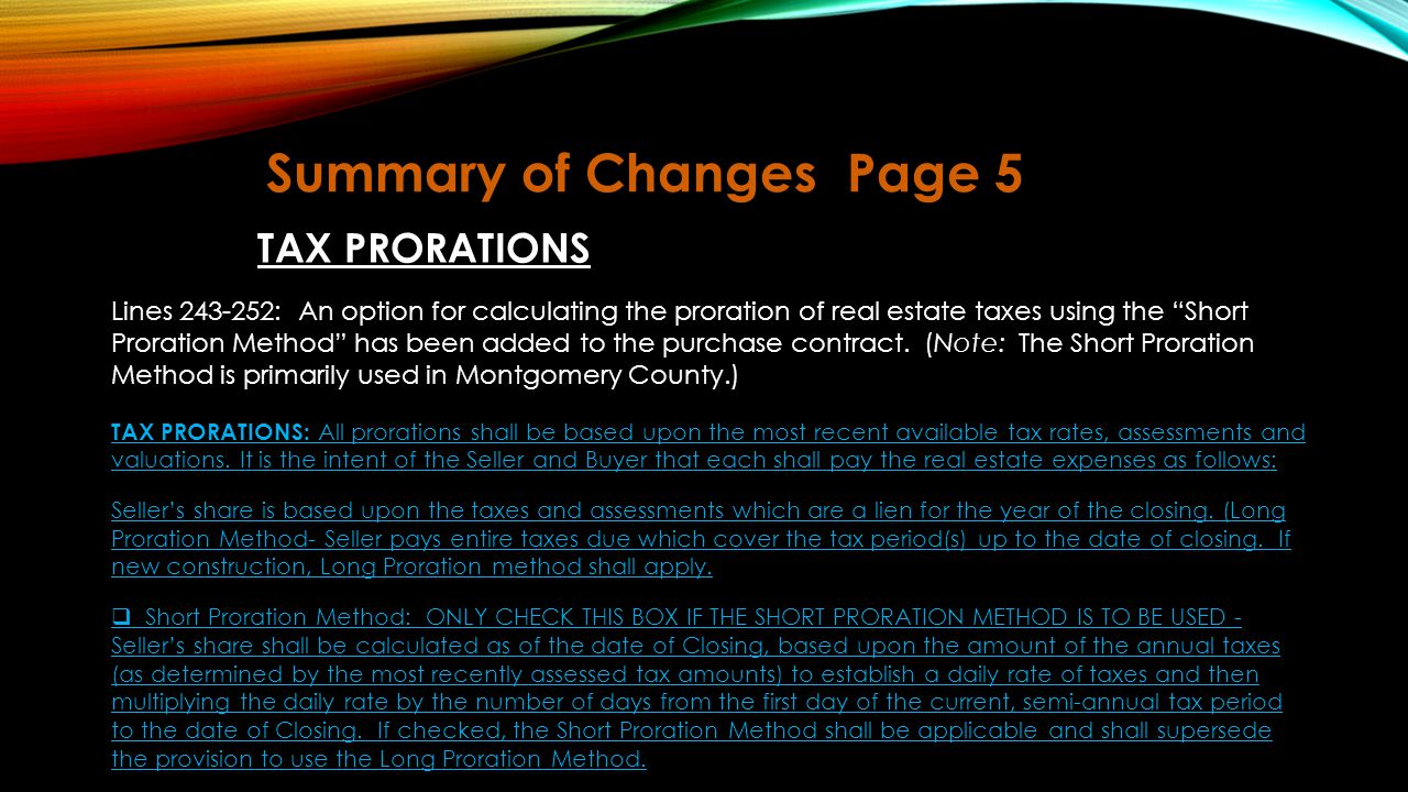 Summary of Changes Page 5