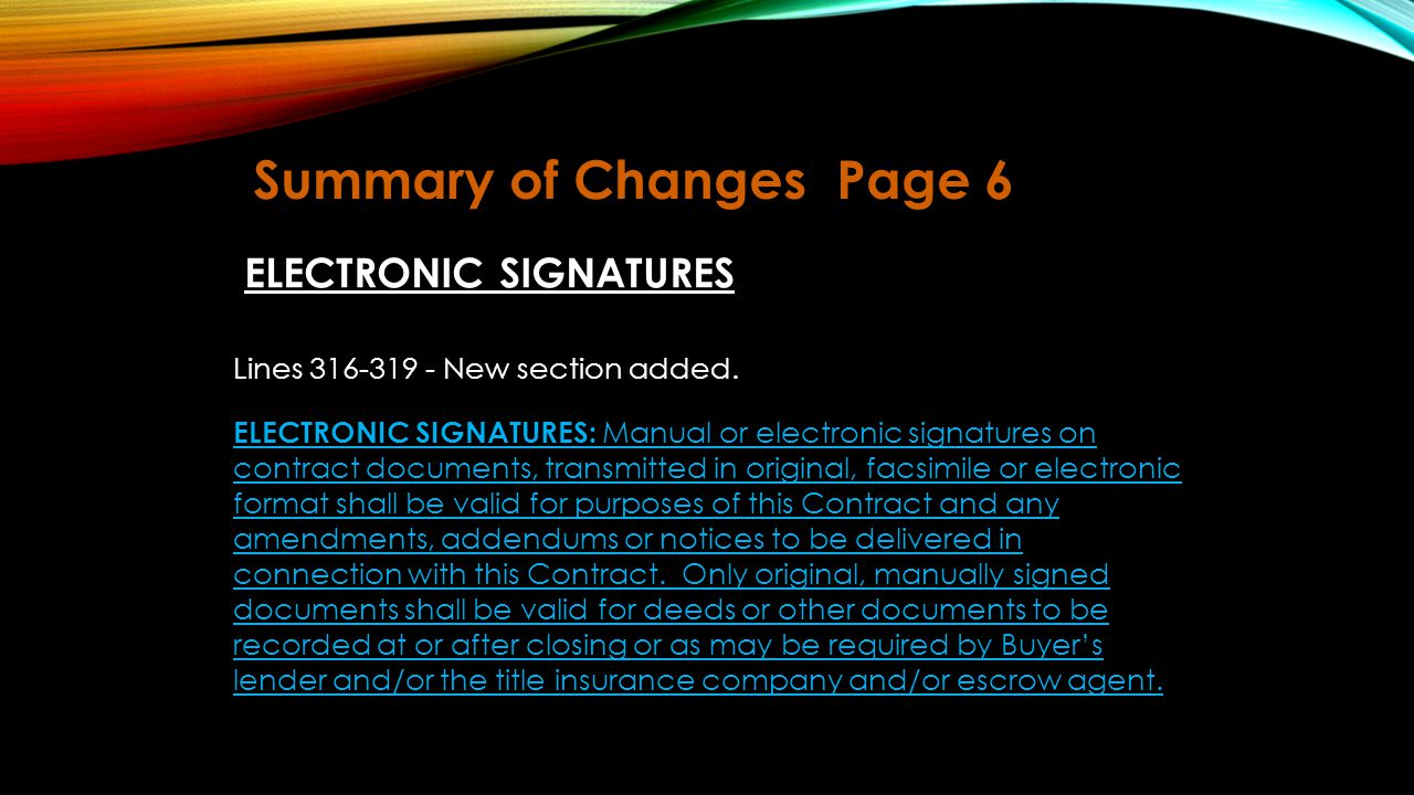 Summary of Changes Page 6