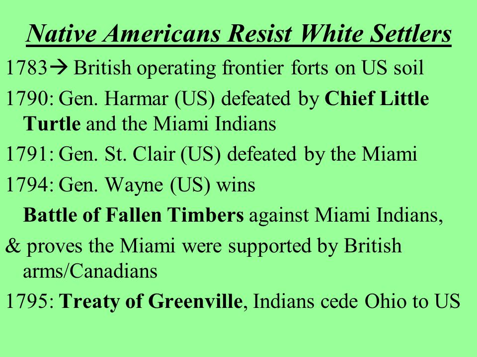 Native Americans Resist White Settlers