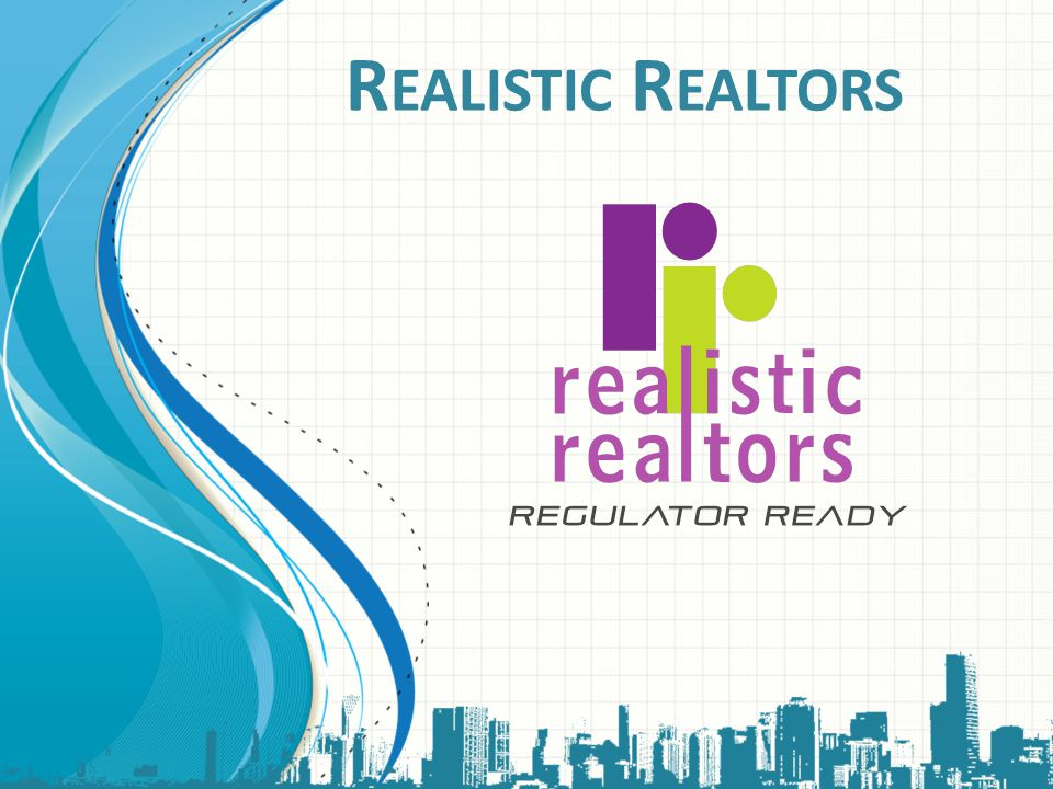 Realistic Realtors This template can be used as a starter file for presenting training materials in a group setting.