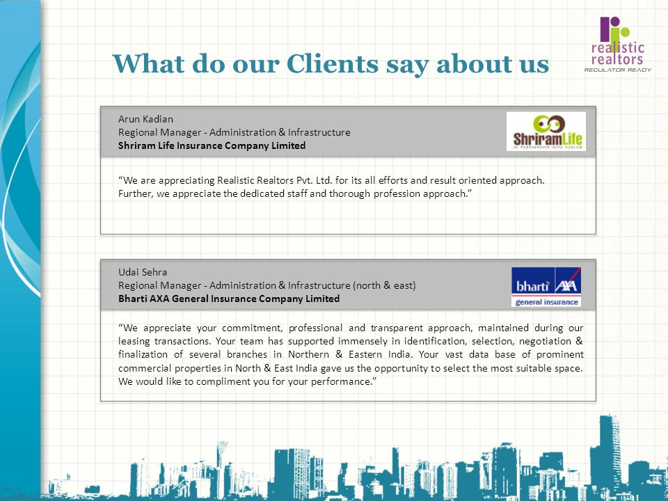 What do our Clients say about us