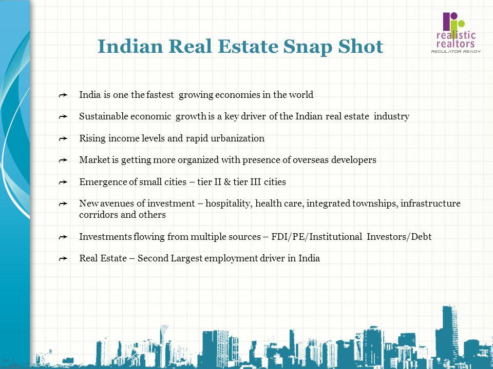 Indian Real Estate Snap Shot