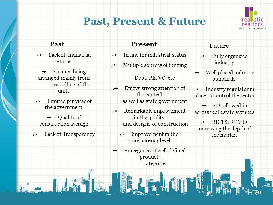 Past, Present & Future Past Present ➦ Lack of Industrial Status