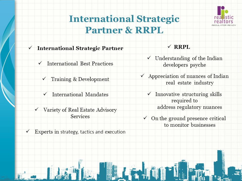International Strategic Partner & RRPL