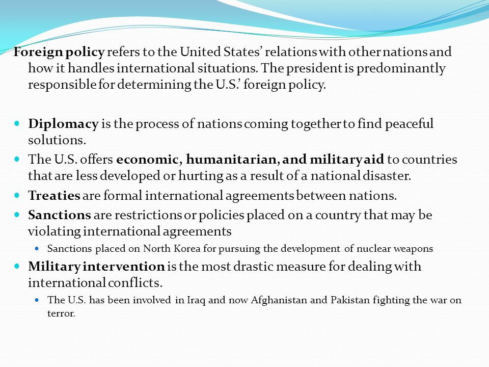 Treaties are formal international agreements between nations.