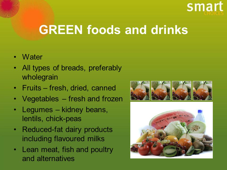 GREEN foods and drinks Water