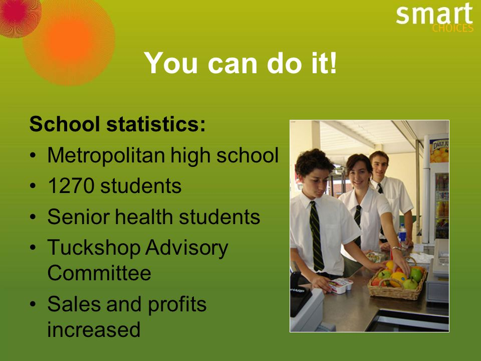 You can do it! School statistics: Metropolitan high school