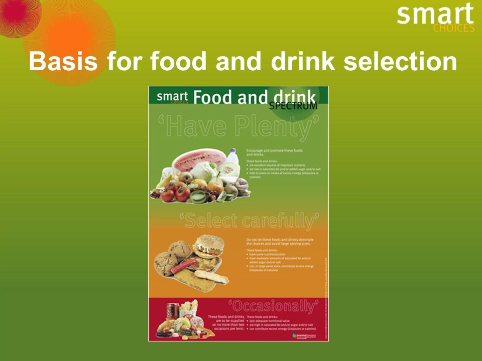 Basis for food and drink selection
