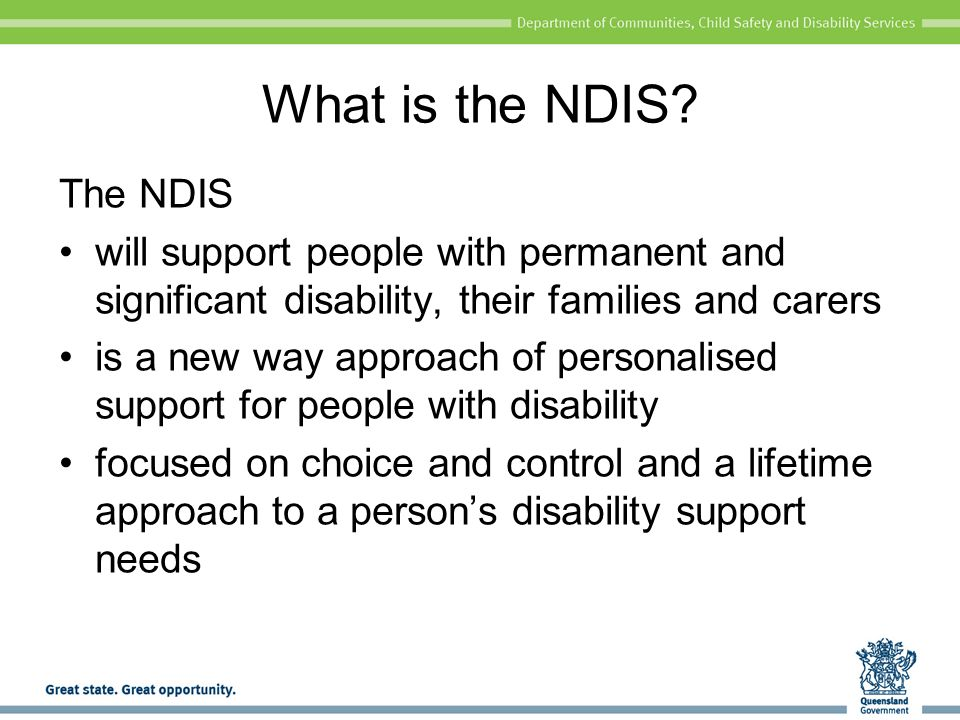 What is the NDIS The NDIS