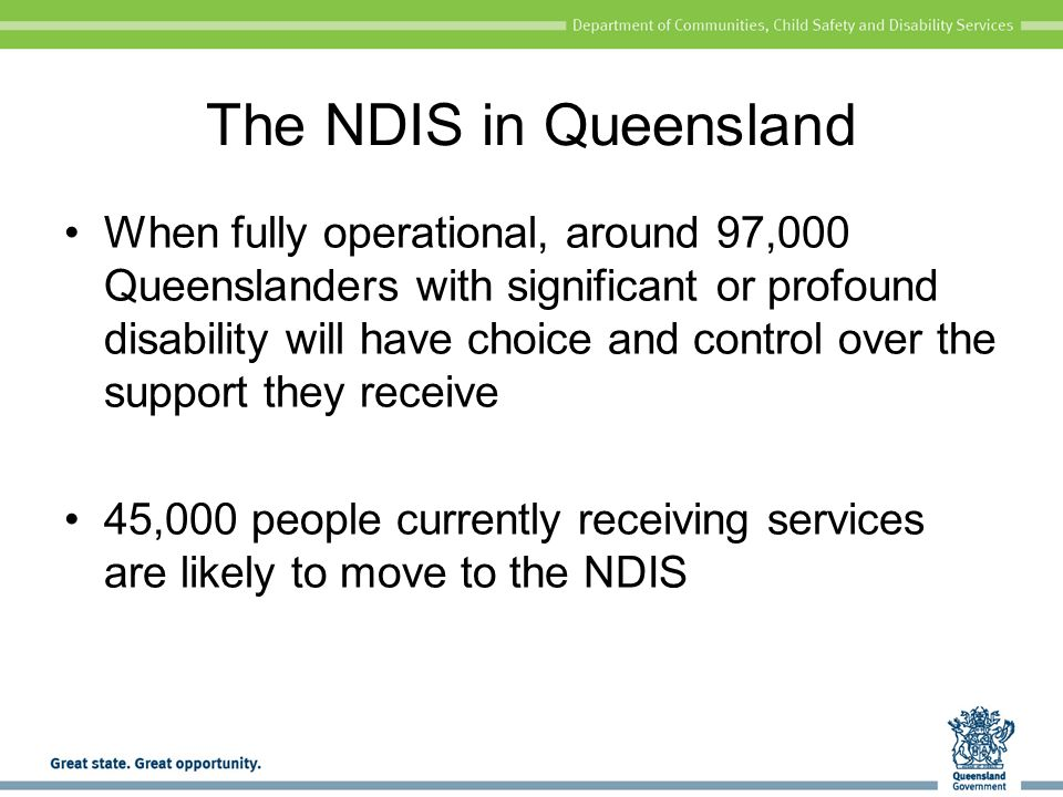 The NDIS in Queensland