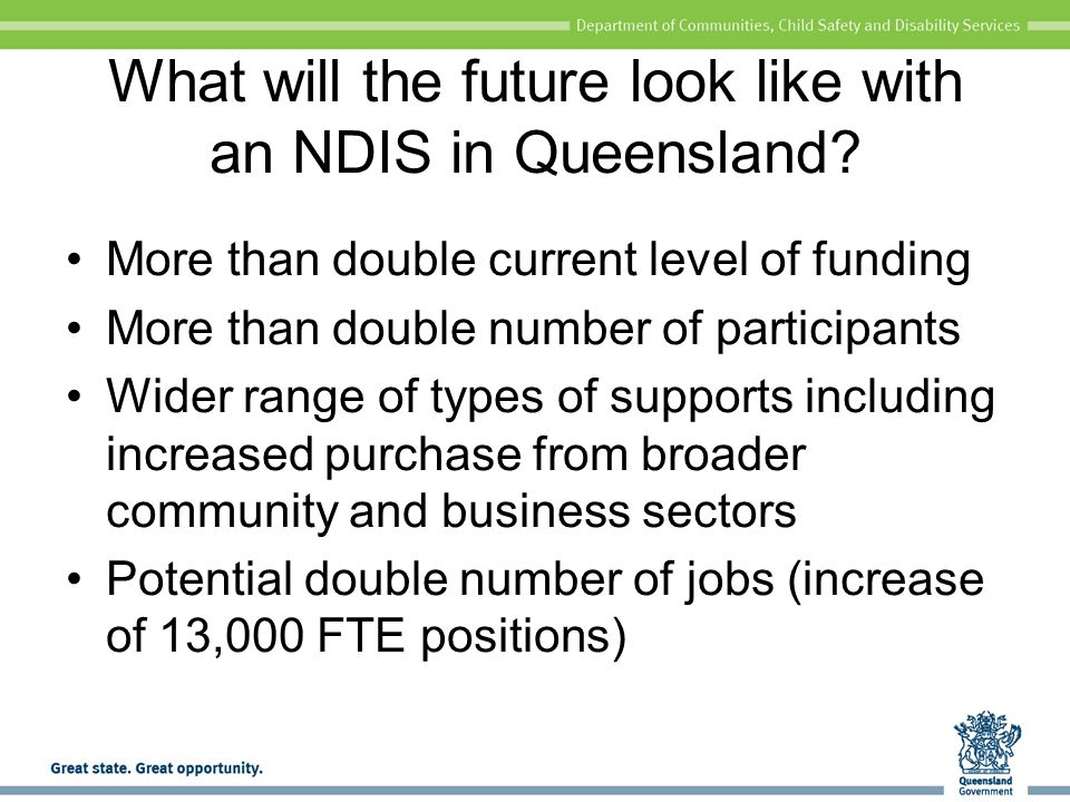 What will the future look like with an NDIS in Queensland