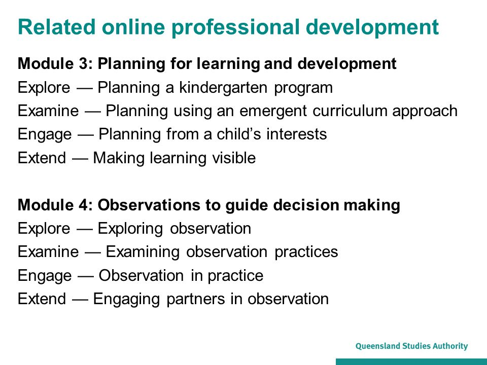 Related online professional development