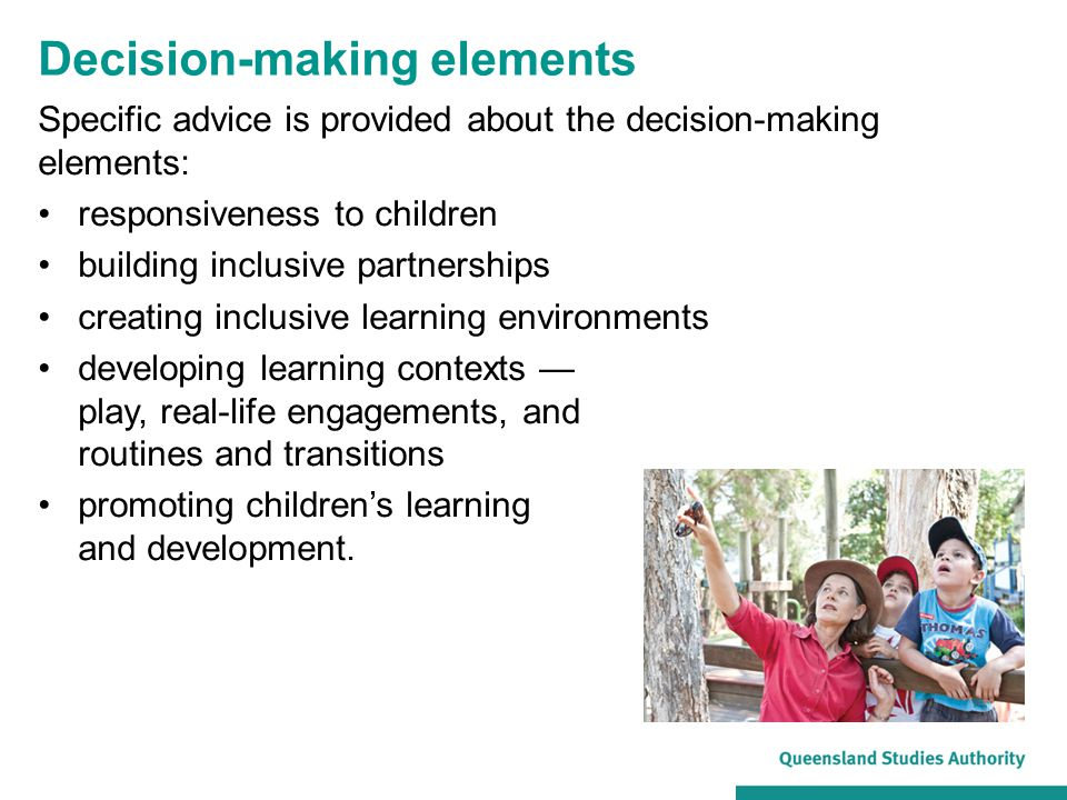 Decision-making elements