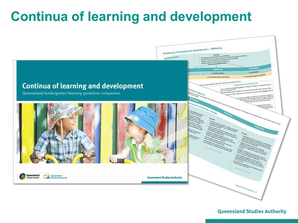 Continua of learning and development