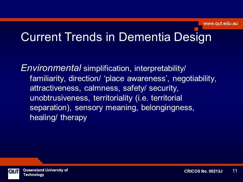 Current Trends in Dementia Design