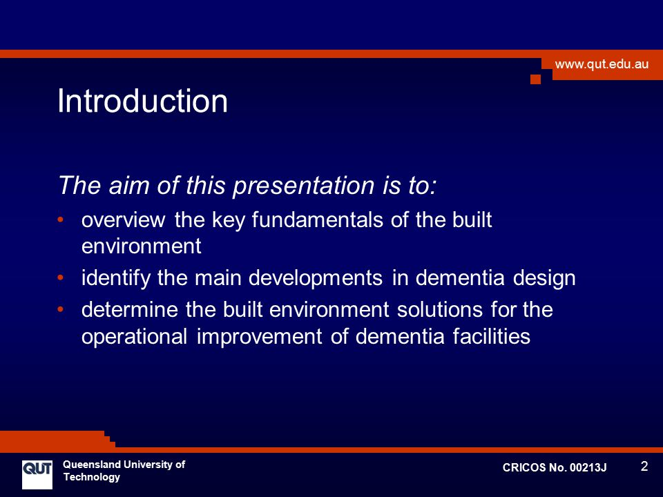 Introduction The aim of this presentation is to: