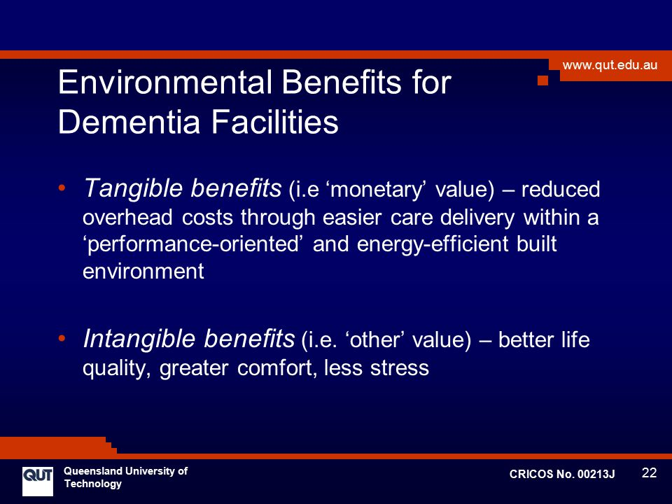 Environmental Benefits for Dementia Facilities