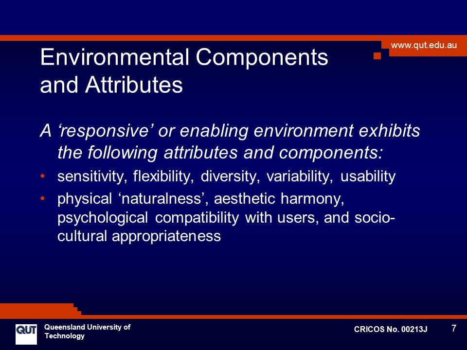 Environmental Components and Attributes