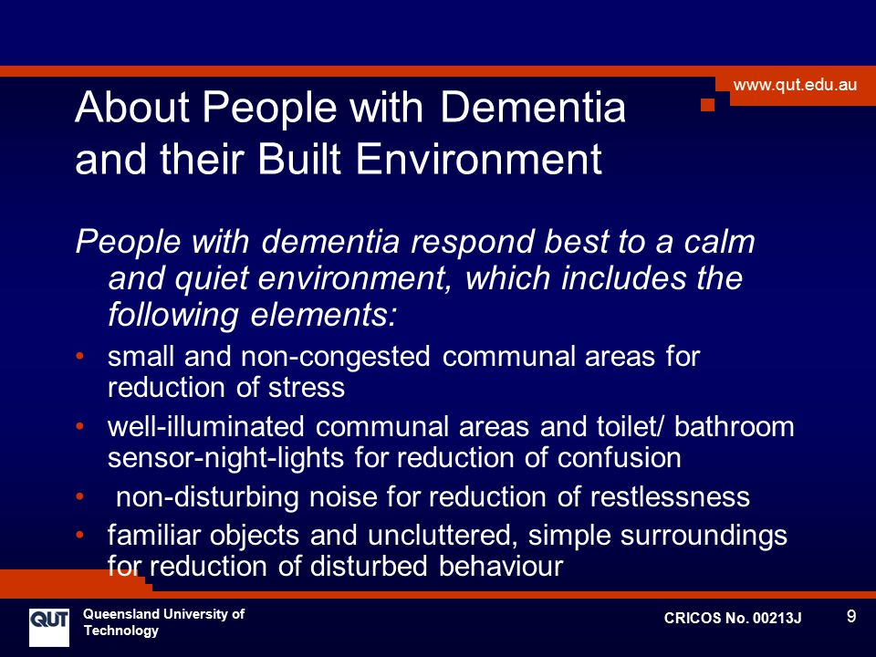 About People with Dementia and their Built Environment