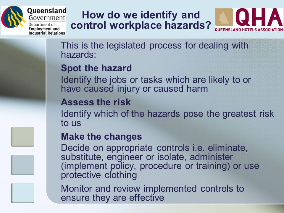 How do we identify and control workplace hazards