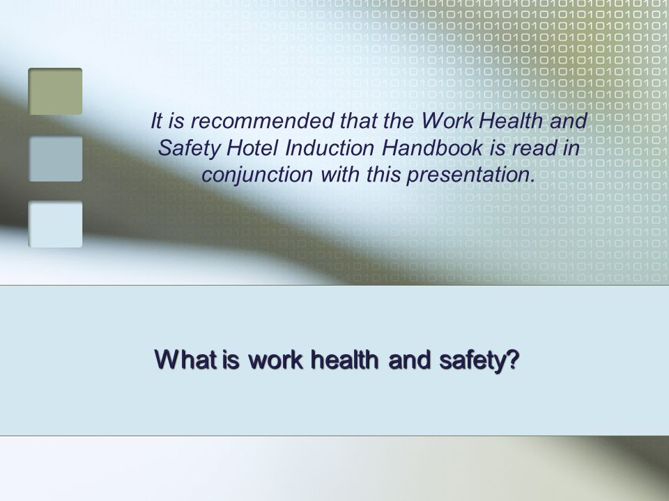 What is work health and safety