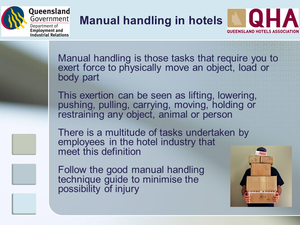 Manual handling in hotels
