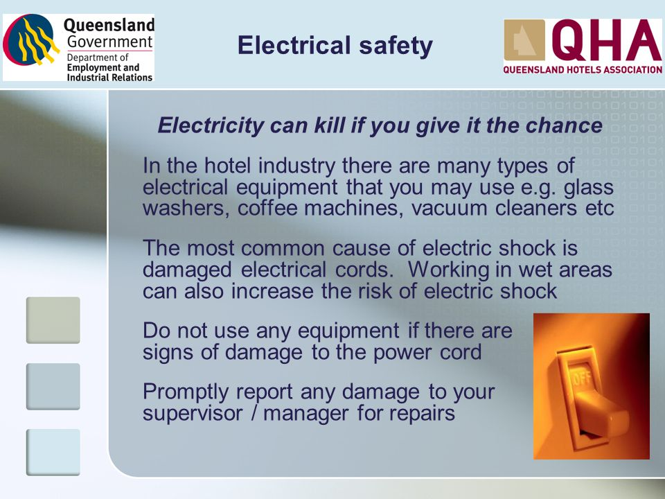 Electricity can kill if you give it the chance