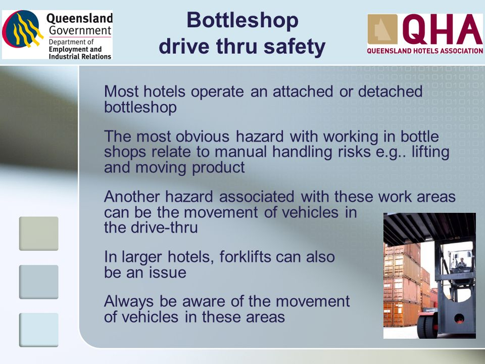 Bottleshop drive thru safety