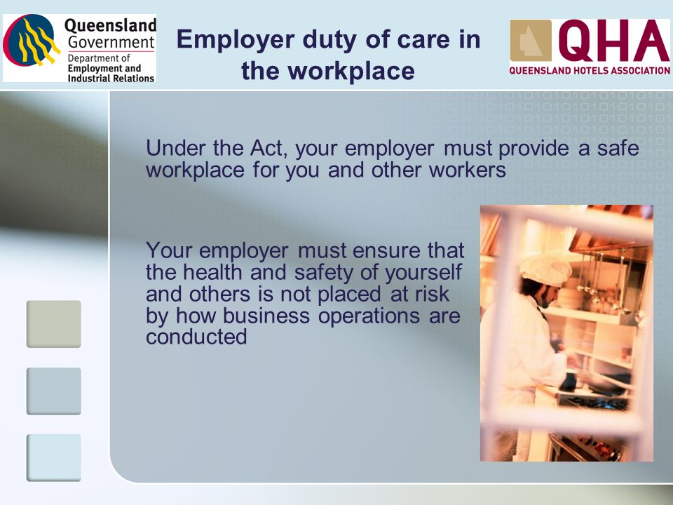 Employer duty of care in
