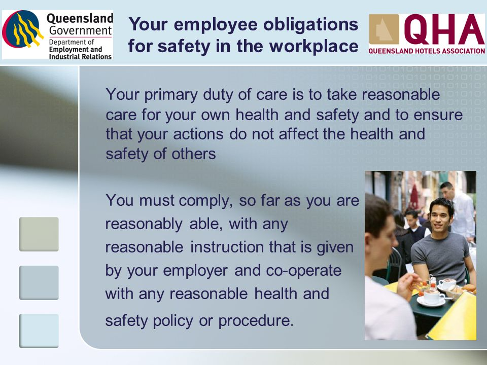 Your employee obligations for safety in the workplace