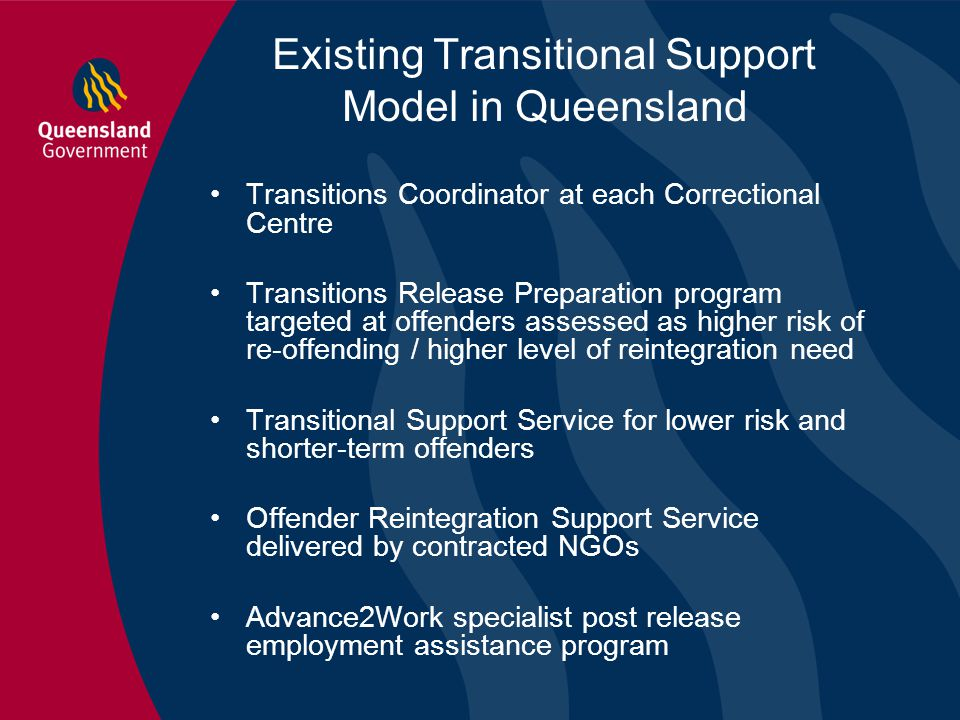 Existing Transitional Support Model in Queensland