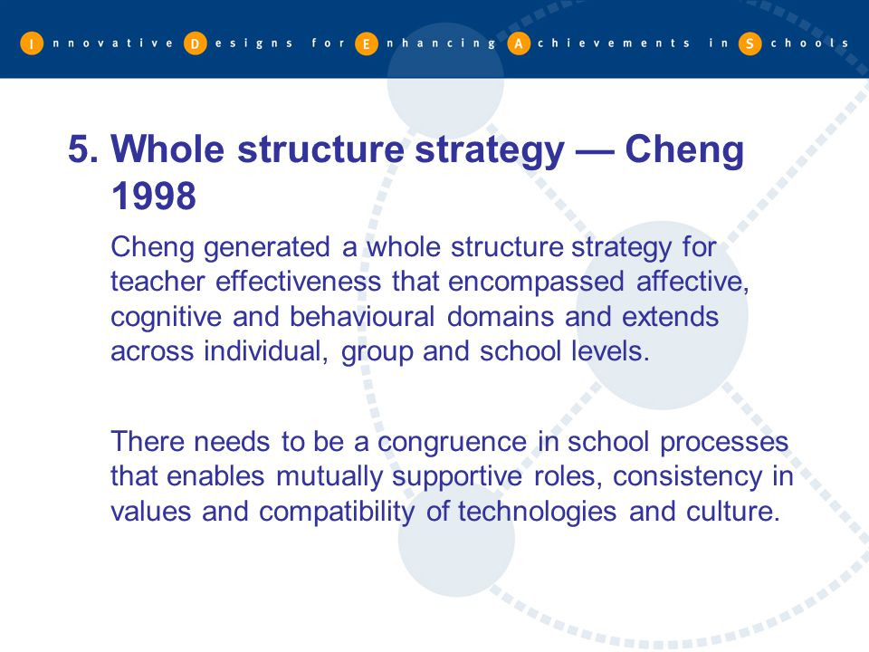 Whole structure strategy — Cheng 1998