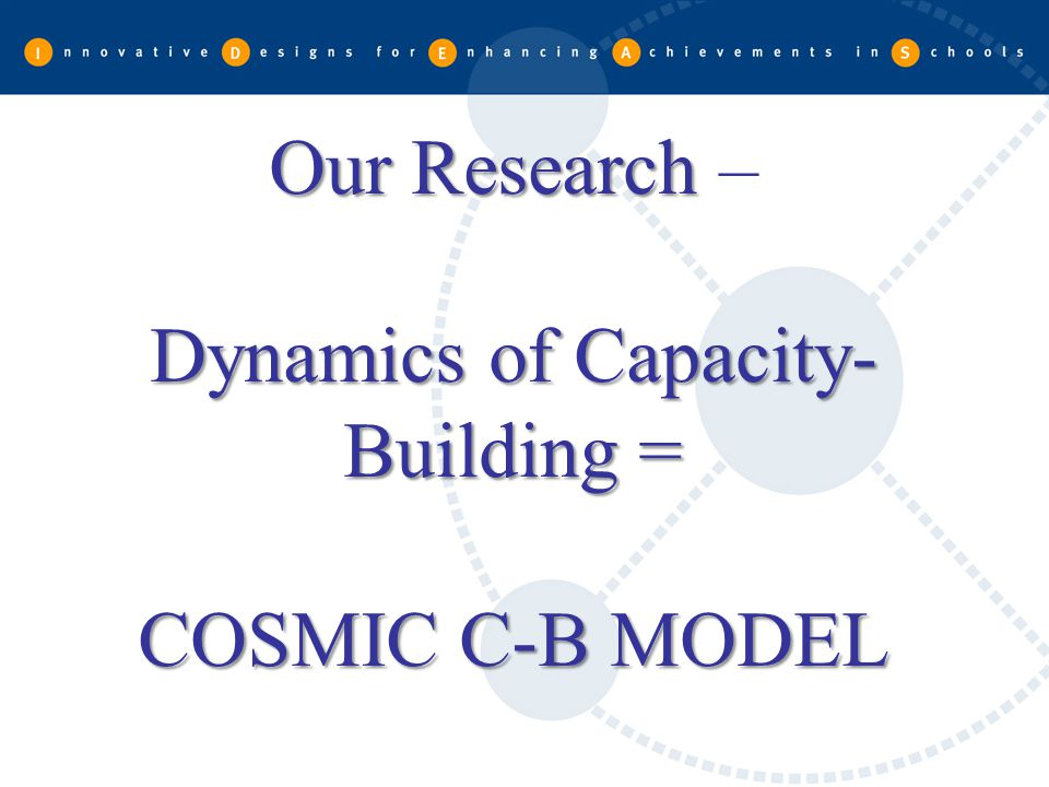 Our Research – Dynamics of Capacity-Building = COSMIC C-B MODEL