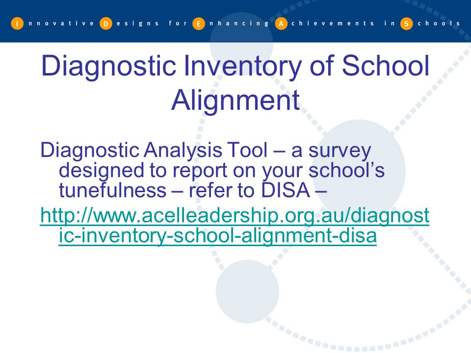 Diagnostic Inventory of School Alignment