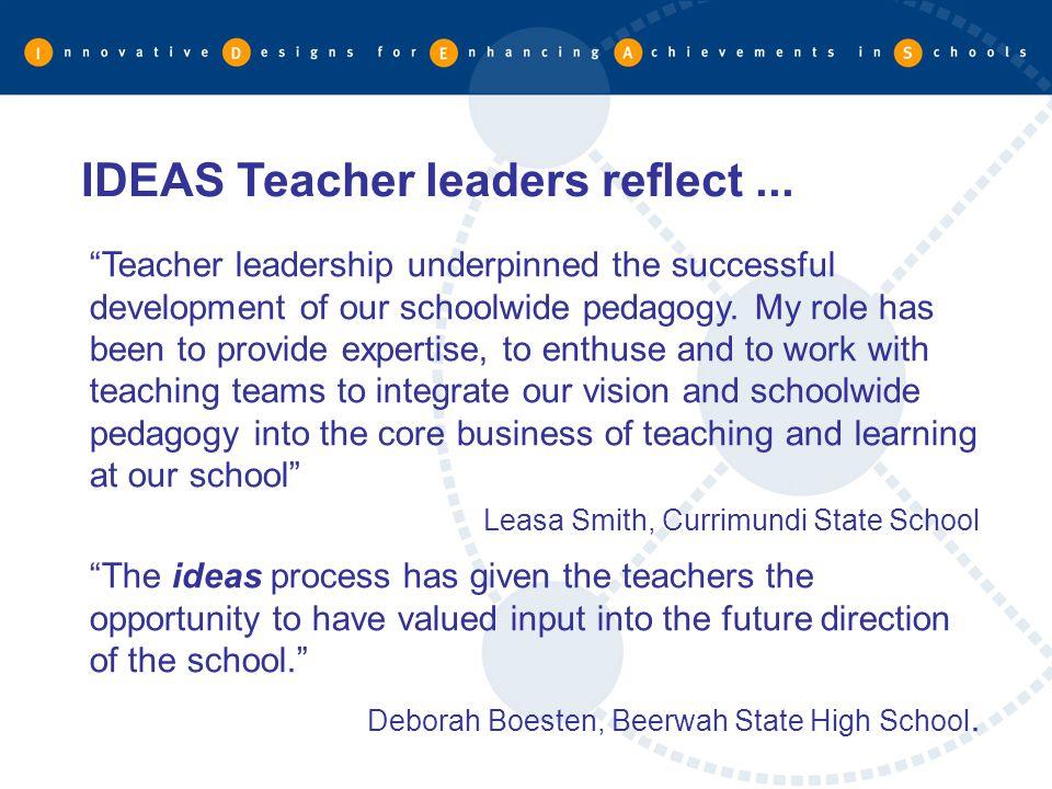 IDEAS Teacher leaders reflect ...