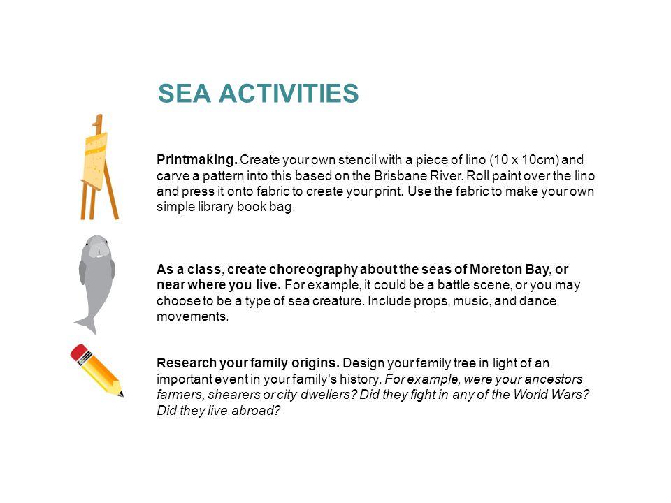 SEA ACTIVITIES